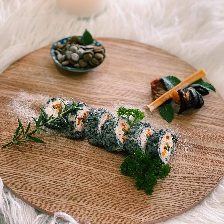 dog chicken sushi